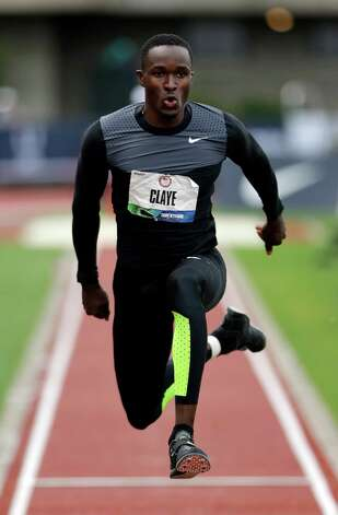 William Claye competes triple jump competition at the U.S. Olympic Track and Field Trials Saturday, June 30, 2012, in Eugene, Ore. (AP Photo/Charlie Riedel) Photo: Associated Press