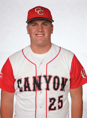 New Braunfels Canyon catcher Tanner Hill was named to the Texas High School Baseball Coaches Association's All-State Class 4A first team. Photo: Juanito M. Garza, San Antonio Express-News / jugarza@express-news.net