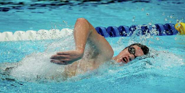 Andrew Gemmell swims in the men's 1500-meter freestyle preliminaries at the U.S. Olympic swimming trials, Sunday, July 1, 2012, in Omaha, Neb. (AP Photo/Nati Harnik) Photo: Associated Press