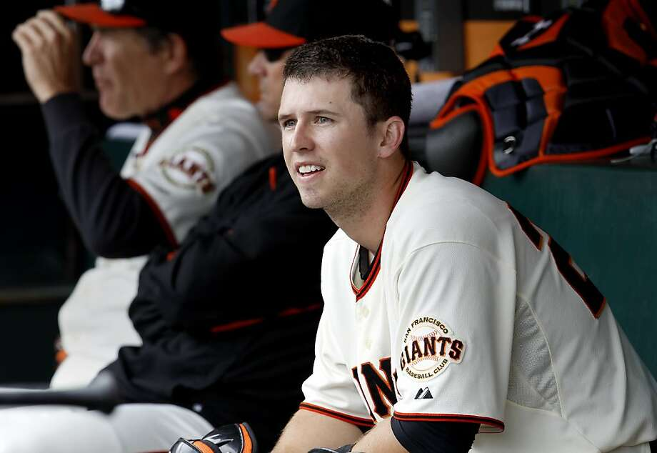 Buster Posey is a serious man - and that influence has made itself felt on the 2012 Giants. Photo: Brant Ward, The Chronicle