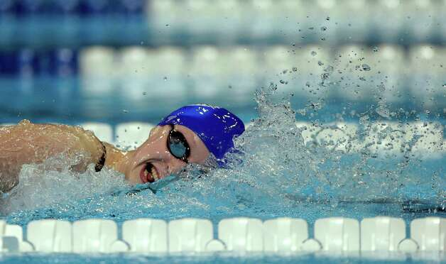 Kathleen Ledecky swims to victory in the women's 800-meter freestyle final at the U.S. Olympic swimming trials on Sunday, July 1, 2012, in Omaha, Neb. (AP Photo/Mark Humphrey) Photo: Associated Press