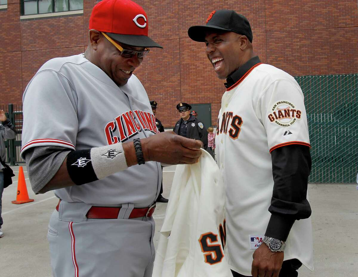 Dusty Baker (left) and Barry Bonds will enter the Bay Area Sports Hall of Fame together on Monday night.