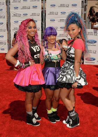LOS ANGELES, CA - JULY 01:  The OMG Girlz arrive at the 2012 BET Awards at The Shrine Auditorium on July 1, 2012 in Los Angeles, California. Photo: Jason Merritt, Getty Images For BET / 2012 Getty Images