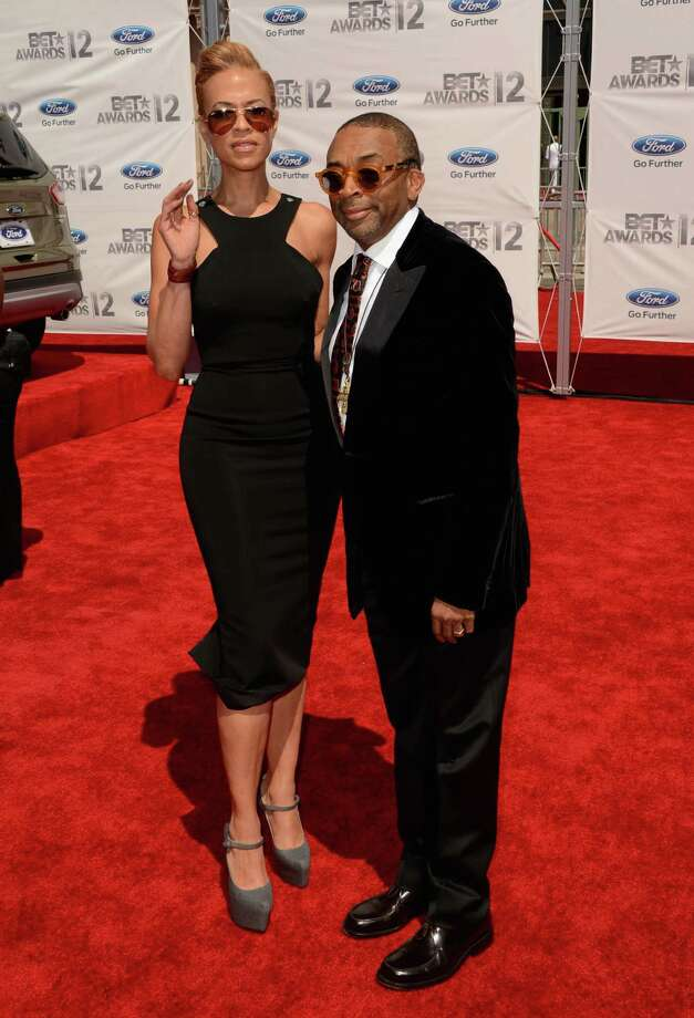 LOS ANGELES, CA - JULY 01:  Director Spike Lee (R) and Tonya Lewis arrive at the 2012 BET Awards at The Shrine Auditorium on July 1, 2012 in Los Angeles, California. Photo: Jason Merritt, Getty Images For BET / 2012 Getty Images