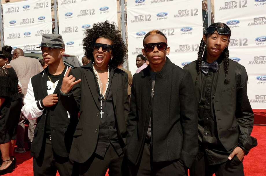 LOS ANGELES, CA - JULY 01:  (L-R) Rappers Princeton, Prodigy, Ray Ray, Roc Royal of Mindless Behavior arrives at the 2012 BET Awards at The Shrine Auditorium on July 1, 2012 in Los Angeles, California. Photo: Jason Merritt, Getty Images For BET / 2012 Getty Images