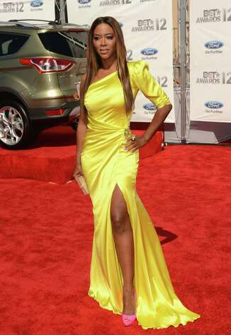 LOS ANGELES, CA - JULY 01:  Model Kenya Moore arrives at the 2012 BET Awards at The Shrine Auditorium on July 1, 2012 in Los Angeles, California. Photo: Jason Merritt, Getty Images For BET / 2012 Getty Images
