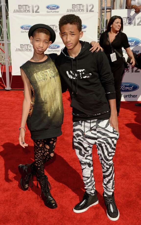LOS ANGELES, CA - JULY 01:  Singer Willow Smith and actor Jaden Smith arrive at the 2012 BET Awards at The Shrine Auditorium on July 1, 2012 in Los Angeles, California. Photo: Jason Merritt, Getty Images For BET / 2012 Getty Images