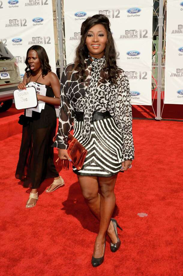 LOS ANGELES, CA - JULY 01:  TV personality Toccara Jones arrives at the 2012 BET Awards at The Shrine Auditorium on July 1, 2012 in Los Angeles, California. Photo: Jason Merritt, Getty Images For BET / 2012 Getty Images