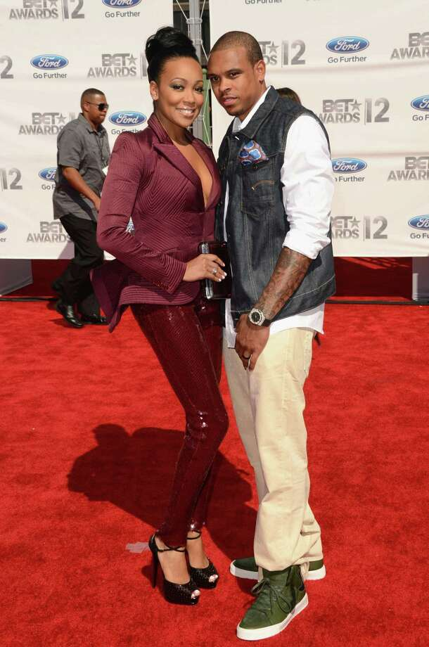 LOS ANGELES, CA - JULY 01:  Singer Monica (L) and Basketball player Shannon Brown arrive at the 2012 BET Awards at The Shrine Auditorium on July 1, 2012 in Los Angeles, California. Photo: Jason Merritt, Getty Images For BET / 2012 Getty Images