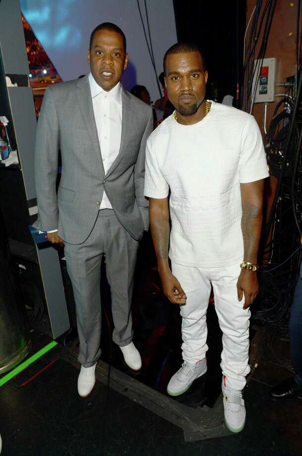 LOS ANGELES, CA - JULY 01:  Rappers Jay-Z and Kanye West attend the 2012 BET Awards at The Shrine Auditorium on July 1, 2012 in Los Angeles, California. Photo: Jason Merritt, Getty Images For BET / 2012 Getty Images