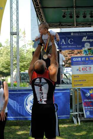 The Kids in Crisis triathalon took place in Stamford on July 1, 2012. Photo: Lauren Stevens/Hearst Media Group