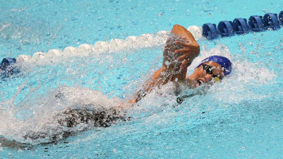 Dara Torres swims in the women's 50-meter freestyle semifinal at the U.S. Olympic swimming trials, Sunday, July 1, 2012, in Omaha, Neb.(AP Photo/Nati Harnik) Photo: Associated Press