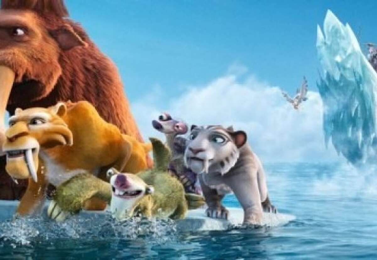 """The gang goes on another adventure, this time battling sea creatures and pirates after their continent breaks loose, in """"Ice Age: Continental Drift."""""""
