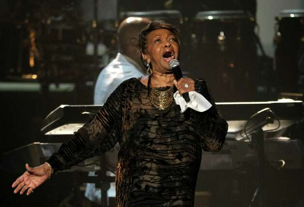 Cissy Houston performs during the in memoriam to her daughter Whitney Houston at the BET Awards on Sunday, July 1, 2012, in Los Angeles. (Photo by Matt Sayles/Invision/AP) Photo: Matt Sayles