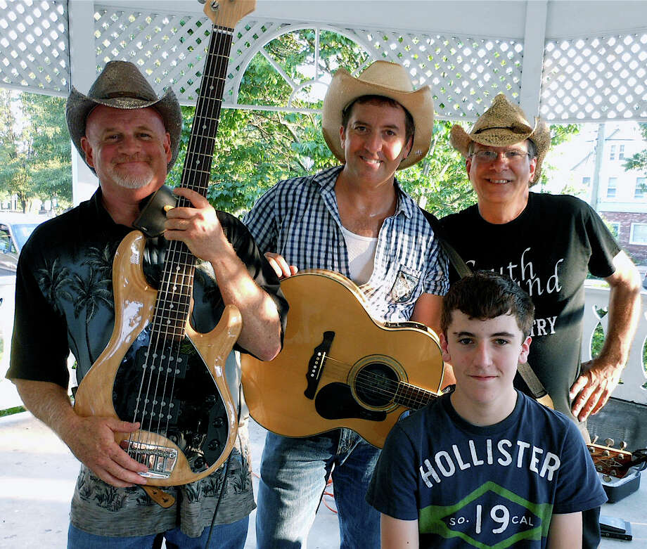 The country music band Southbound -- Dave Cobb, Lou Lomangino, Stevie Lomangino and Mike DeLuca -- performed Sunday night at the Sherman Green gazebo. Photo: Mike Lauterborn / Fairfield Citizen contributed
