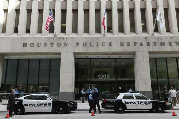 Houston Police Department reveals the new image for future patrol vehicles July 2, 2012, outside headquarters downtown.