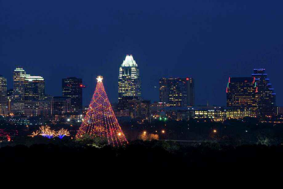 During the holidays, don't miss Austin's Zilker Tree, a 155-foot-tall man-made Christmas tree. Photo: Austin CVB / handout