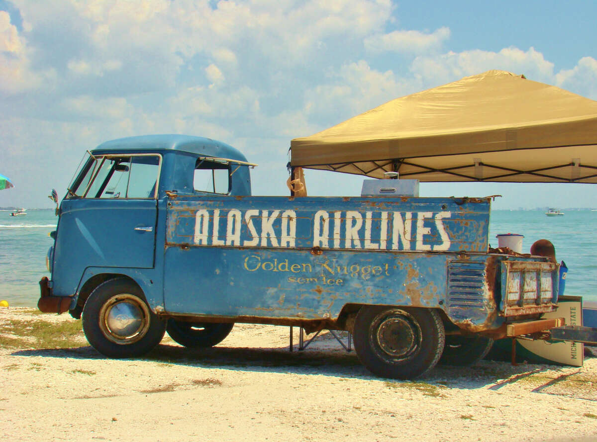 The Volkswagen truck is first spotted at a Tampa beach in August 2010.