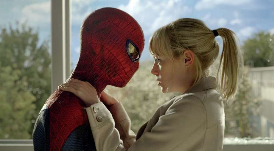 "Andrew Garfield as Spider-Man and Emma Stone star in Columbia Pictures' ""The Amazing Spider-Man."" Photo: Courtesy Of CTMG./ImageMagick"
