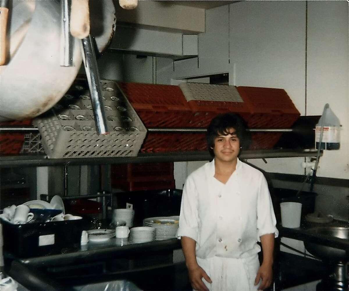 """Pictured here in 1986, Alejandro Ayala arrived from Mexico """"for a better life."""" Twenty-fives years later, he is the resort's Executive Banquet Chef."""