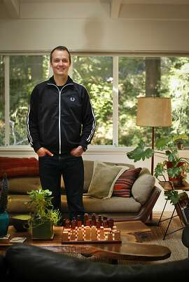 John Paluska who was the manager of the band Phish for seventeen years is seen in his Mill Valley, Calif., home on Wednesday, April 4, 2012.  Paluska will be opening a restaurant, Comal, in Berkeley soon.