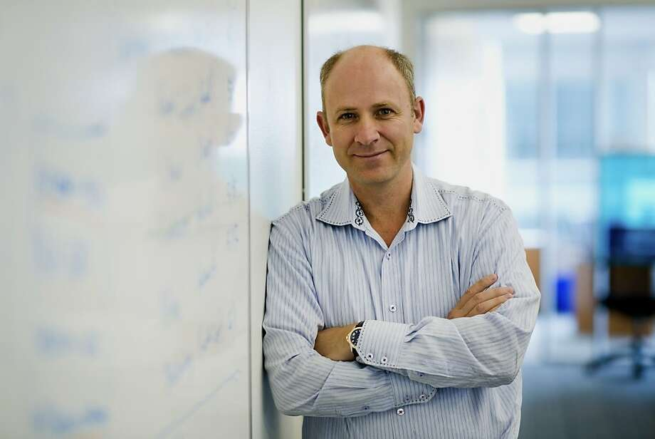 Lewis Cirne, CEO and founder of New Relic, stands in the company's S.F. office on June 21, 2012. Photo: David Paul Morris, Bloomberg