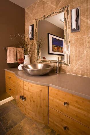 Renovation winners from powder room to speakeasy - Bathroom cabinets kerala ...