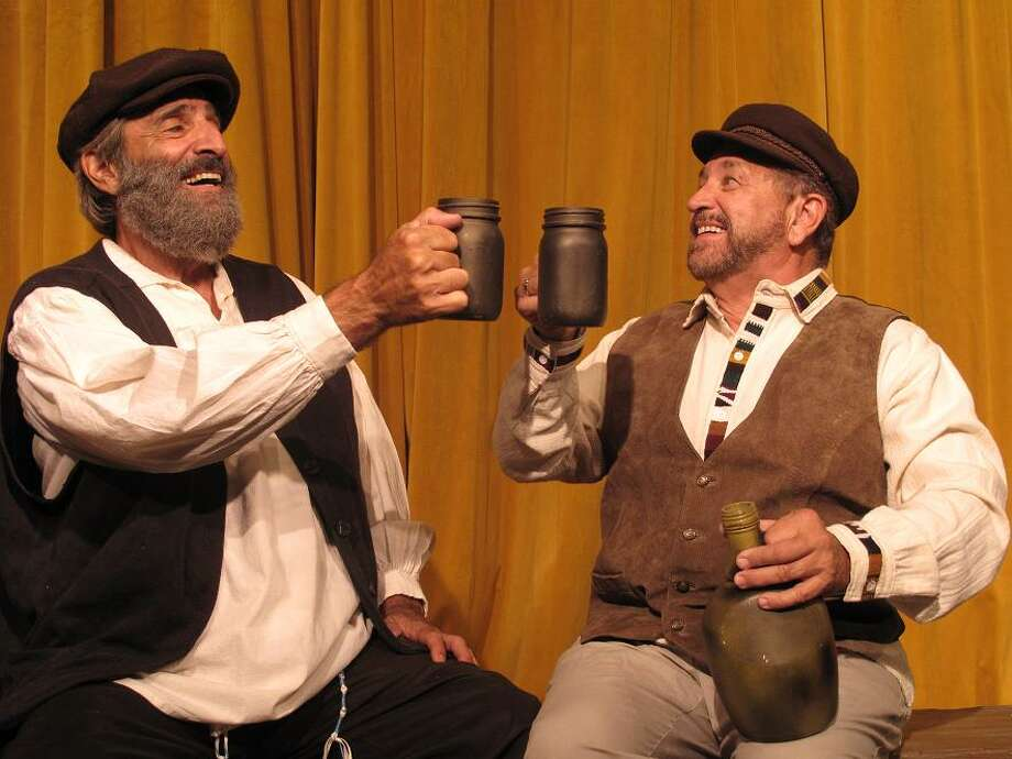 """Patrick Ricci (left) and Ray Baird play Tevye and Lazar Wolf in Circle Arts Theatre's staging of """"Fiddler on the Roof."""" Photo: Courtesy, Circle Arts Theatre"""