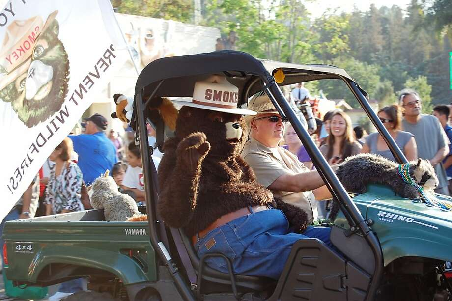 Smokey Bear is one of the highlights of the daily parade at the Los Angeles County Fair in Pomona. Photo: Los Angeles County Fair