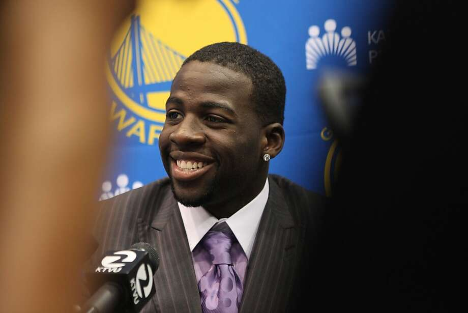 The Golden State Warriors introduce their new draft picks including Draymond Green in Oakland, Calif.,  on Monday, July 2, 2012. Photo: Liz Hafalia, The Chronicle