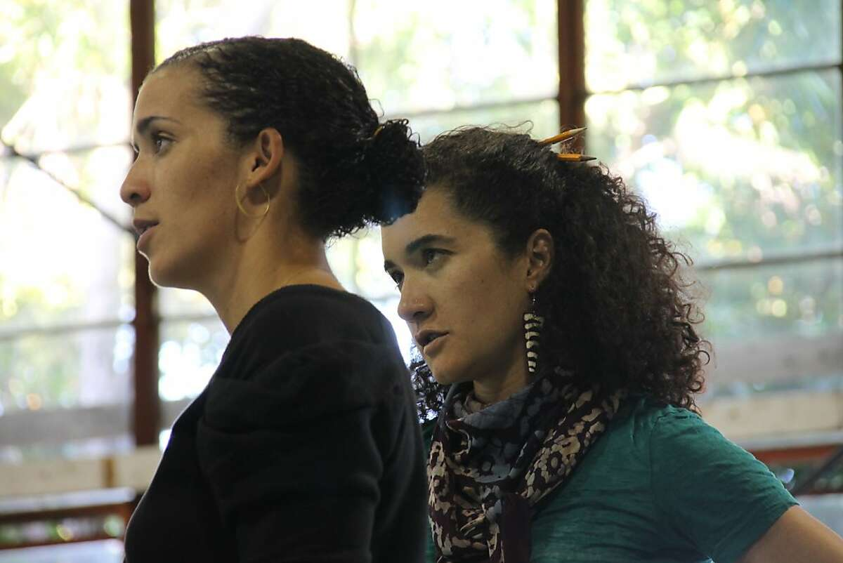 (L to R) Patricia McGregor (director) and Paloma McGregor (choreographer) in rehearsal for Cal Shakes production of