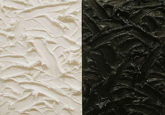 """Abstract Diptych #3"" (2011) oil on canvas by James Hayward Photo: Unknown"