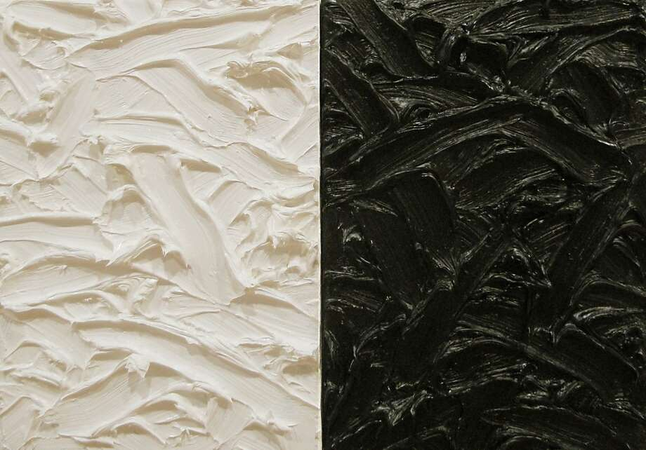 """""""Abstract Diptych #3"""" (2011) oil on canvas by James Hayward Photo: Unknown"""