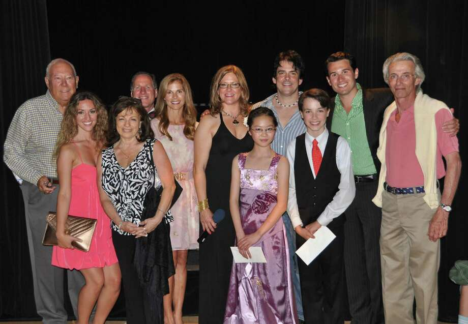 Pictured are Leo Meyer (auditions judge), Cristina Spinei (auditions judge), Toni DeCarlo (auditions) judge), John McL. Doelp (finals judge), Barbara Goldsmith (finals judge), Amy Allen (Darien Arts Centerís Executive Director), Theresa Du (Second Place winner), Doug Allen (Third-Place winner), Christopher Jessup (First-Place winner), Dan Micciche (finals judge), Ted Yudain (auditions judge). Finals judges not pictured include Edwin Schloss, Dorothy Kolinsky and Matthew Porretta (auditions judge). Photo: Contributed Photo