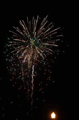 Annual fireworks show on Sandy Creek Park. Photo: Jimmy Galvan