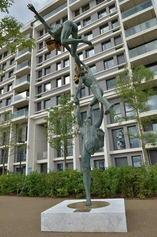 LONDON - JUNE 29:  In this handout image provided by LOCOG, a statue stands in the London 2012 Athletes Village, built for the London 2012 Olympic Games, on June 29, 2012. in Stratford, east London. The village will accomodate up to 16,000 athletes and officials from more than 200 nations. Photo: Handout, LOCOG Via Getty Images / 2012 LOCOG