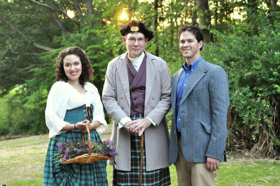 "The Lerner and Loewe classic ""Brigadoon"" is being produced by Danbury's outdoor theater - Musicals at Richter - July 5 to 21. Caitlin Mandracchia is playing Scottish villager Fiona, Pat Spaulding is Mr. Lundy, and Nathan Mandracchia is the American tourist who stumbles on the mythical town of Brigadoon which only appears to mortals once every century. Photo: Contributed Photo"