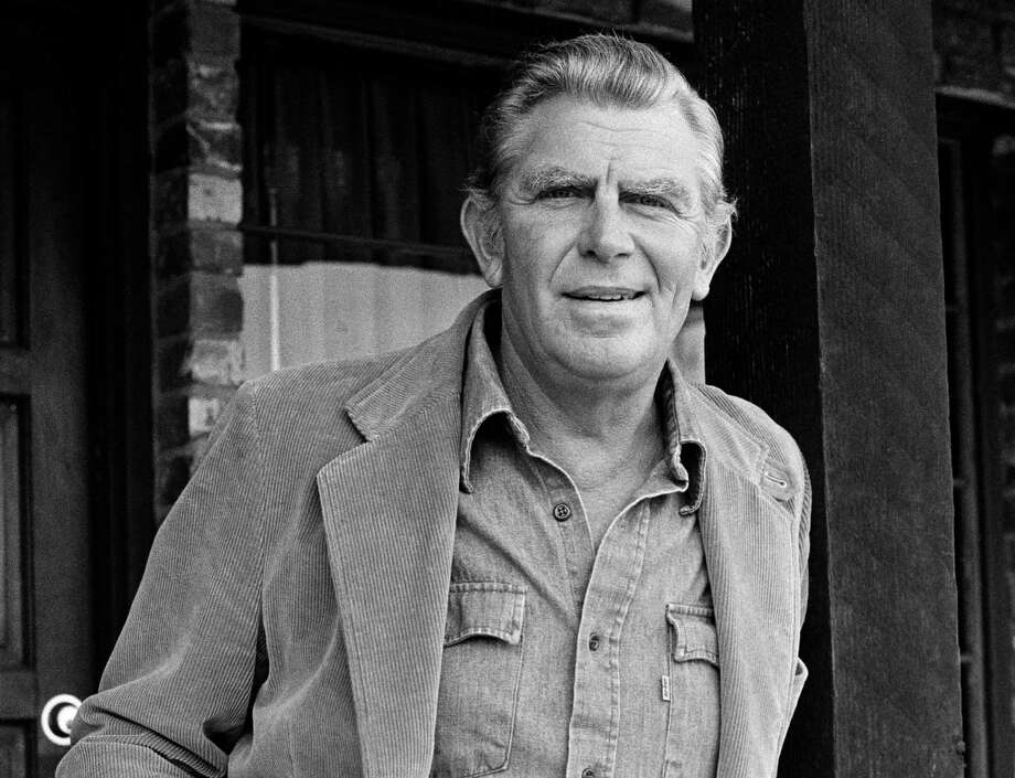 "This Jan. 31, 1983 file photo shows actor Andy Griffith posing in Los Angeles to promote his upcoming CBS-TV film, ""Murder in Coweta County."" Griffith, whose homespun mix of humor and wisdom made ""The Andy Griffith Show"" an enduring TV favorite, died Tuesday, July 3, 2012 in Manteo, N.C. He was 86. (AP Photo/Wally Fong, file) Photo: Wally Fong, Associated Press / AP1983"