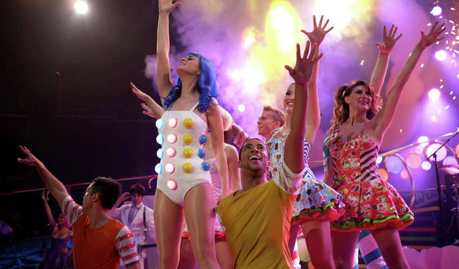 "Katy Perry performs with dancers in a scene from her 3-D film, ""Katy Perry: Part of Me."" Photo: Courtesy, Paramount Pictures"