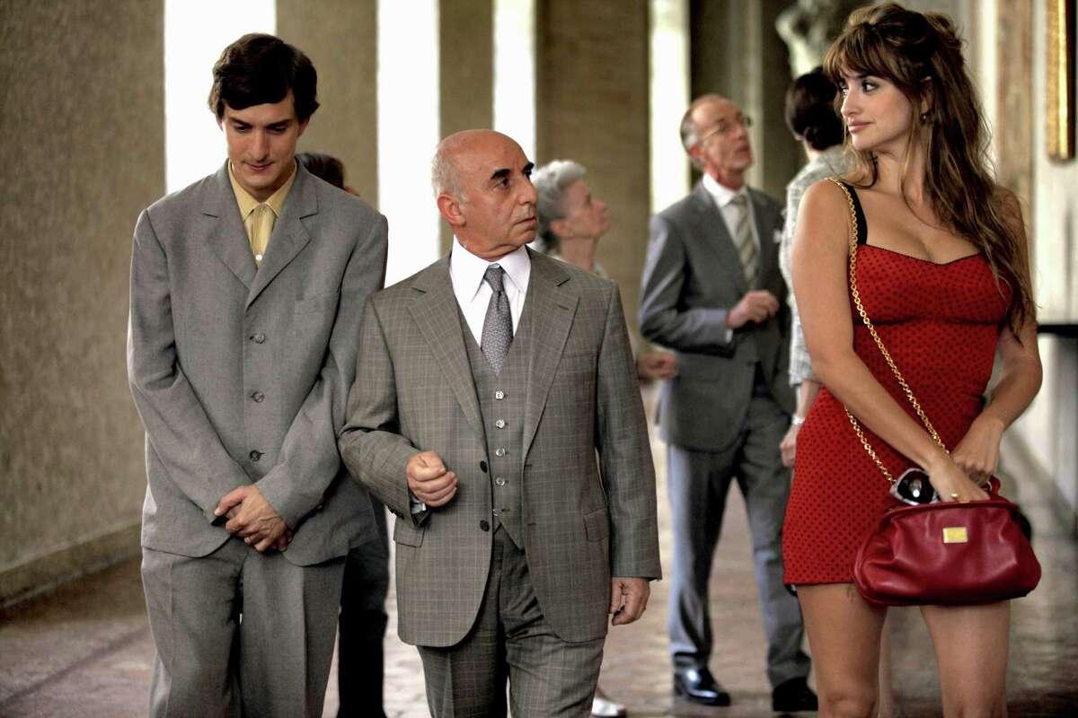 "Alessandro Tiberi, left, stars as Antonio, Roberto Della Casa as Uncle Paolo and Penélope Cruz as Anna in ""To Rome With Love."""