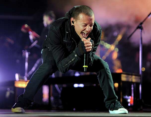 Chester Bennington of Linkin Park sings with his signature screech on the band's fifth album. Photo: Harald Tittel, Associated Press / dapd