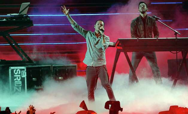 American band Linkin Park performs during the MTV Video Music Awards Japan show in Makuhari, near Tokyo, Saturday, June 23, 2012. (AP Photo/Koji Sasahara) Photo: Koji Sasahara, STF / AP