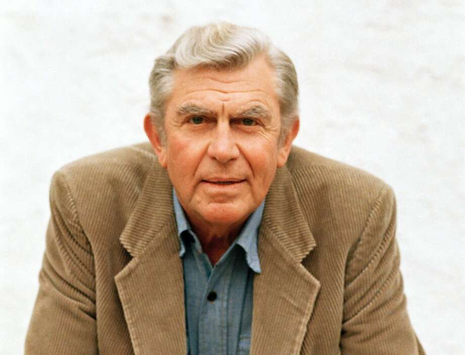 "FILE - This March 6, 1987 file photo shows actor Andy Griffith in Toluca Lake, Calif. Griffith, whose homespun mix of humor and wisdom made ""The Andy Griffith Show"" an enduring TV favorite, died Tuesday, July 3, 2012.  He was 86.  (AP Photo/Doug Pizac, file) Photo: Doug Pizac, Associated Press"