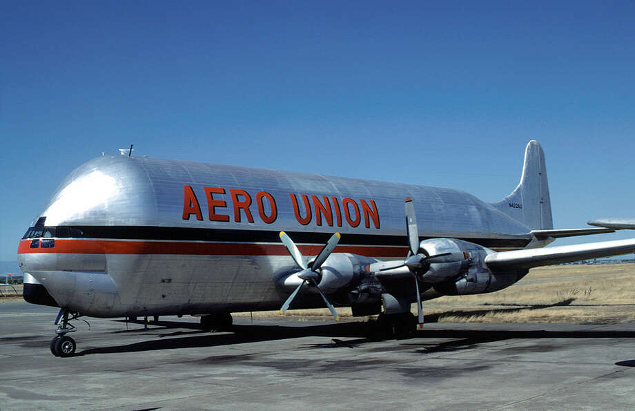 The Aero Spacelines Mini Guppy was the last version, and also based on the Boeing 377. You can visit it at the Tillamook (Ore.) Air Museum. Photo: Eduard Marmet/Wikimedia Commons