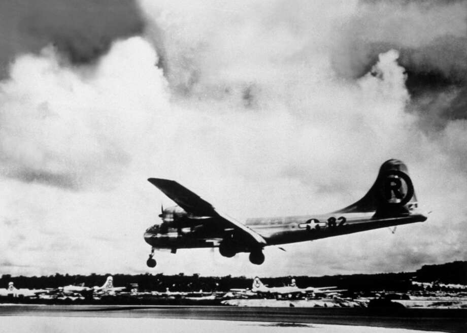 Cargo doesn't get much more unique than the first of the only two atomic bombs ever used in war. The B-29 bomber 'Enola Gay' dropped the bomb over Hiroshima, Japan, on Aug. 6, 1945. Photo: Keystone, Getty Images / Hulton Archive