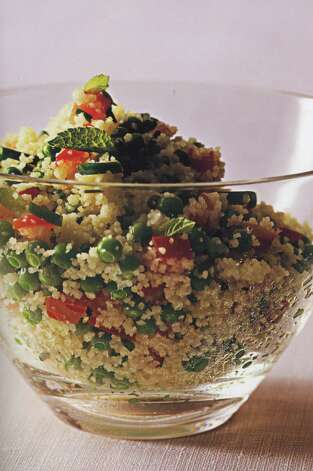 "Tabbouleh (tuh-BOO-luh): Not tuh-BOO-lee. A Lebanese dish of fine bulgur and chopped tomatoes, onions, parsley and mint with olive oil and lemon juice. Audio: Click here to hear the term ""Tabbouleh."" / handout book scan"