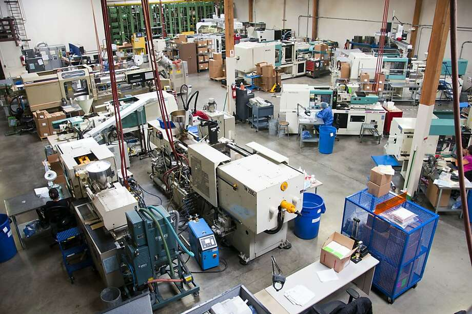 Wright Engineered Plastics in Santa Rosa uses more machines to compete with Chinese manufacturers. Photo: Erchi Zhang, Special To The Chronicle