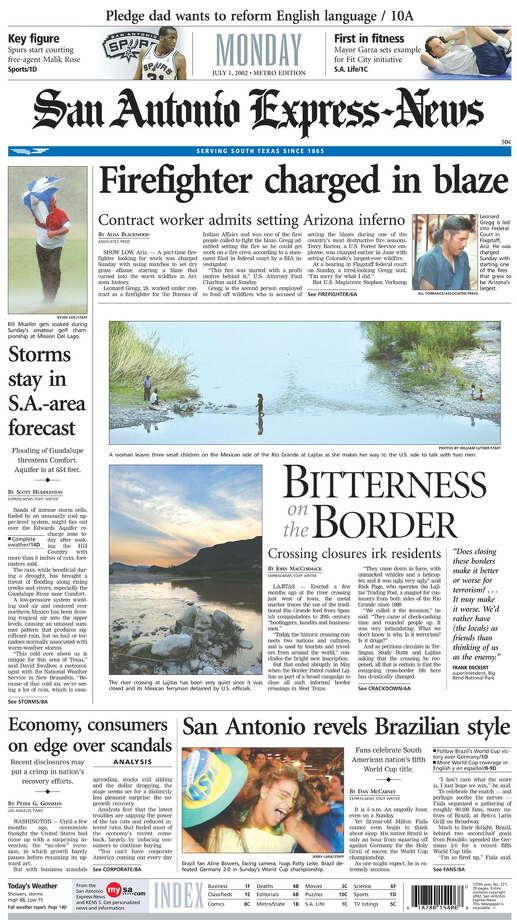 July 1, 2002 Photo: Express-News