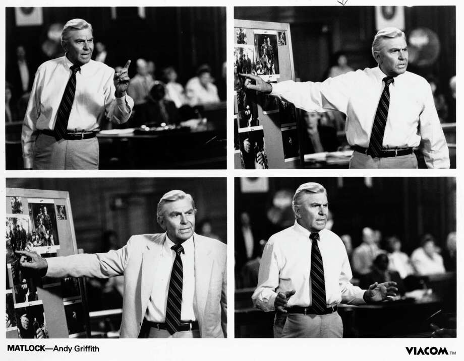 MATLOCK- Andy Griffith.    HOUCHRON CAPTION (08/26/2002):  Andy Griffith starred as Benjamin L. Matlock in Matlock (1986-95). / handout