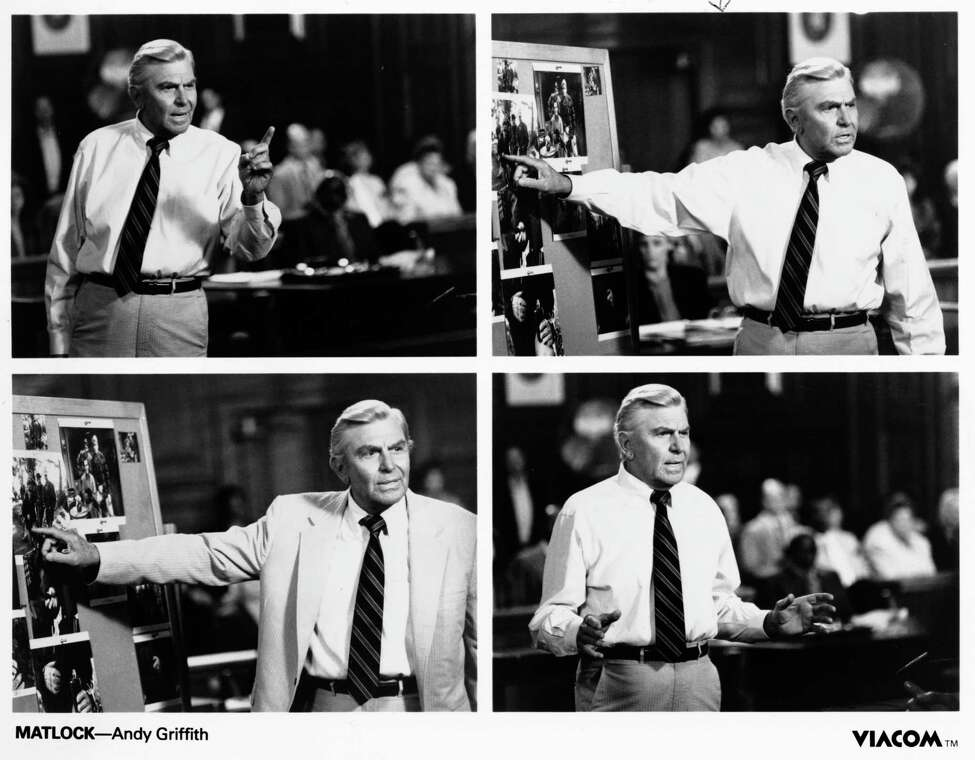 MATLOCK- Andy Griffith. HOUCHRON CAPTION (08/26/2002): Andy Griffith starred as Benjamin L. Matlock in Matlock (1986-95).